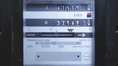 Electricity Meter Running - stock footage