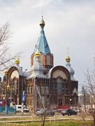 Temple in honour of the vladimir icon of the most holy theotokos. nizhny novg Stock Photos