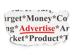 Marketing concept: Advertise on Paper background - stock illustration