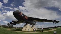 Colorado Springs Colorado Air force Academy B-52D Bomber Diamond Lil Stock Footage