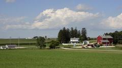 Dyersville Iowa movie set of famous movie Field of Dreams baseball park movie Stock Footage
