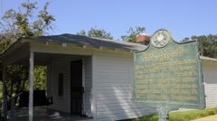Famous rock king Elvis Presley birthplace in Tupelo Mississippi on Elvis Presley Stock Footage