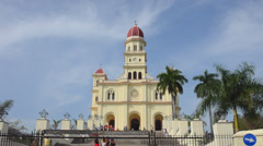 Santiago Cuba famous church called Basilica El Cobre containing the Virgin Mary Stock Footage