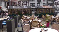 City tour in Monschau. Stock Footage