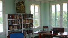 Havana Habana Cuba Ernest Hemingway home in the San Francisco area library Stock Footage