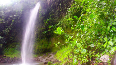 Ola Vida waterfall in Ecuadorian Amazonia Stock Footage
