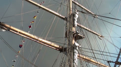 1339 Mast of a sailboat Stock Footage