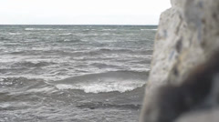 Bad weather on the Baltic Sea Stock Footage
