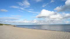 Loved the Baltic Sea beach - stock footage