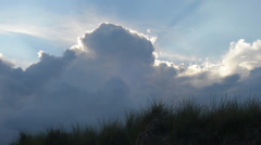 Rain clouds at Baltic Sea beach Stock Footage