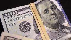US currency Stock Footage