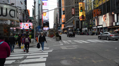 Advertizing and signs in New York - stock footage