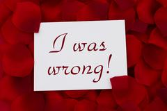 i was wrong card - stock photo