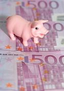Stock Photo of Luck Pig with euros