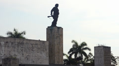 Santa Clara Cuba statue and grave site of Che Guevara the hero from Revolution - stock footage