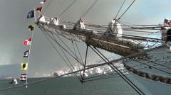 1340 Figurehead of a sailboat Stock Footage
