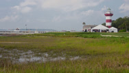 Stock Video Footage of Scenic of  18th Hole at exclusive Habour Town Golf Links in Hilton Head South