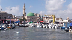 Marina in Acre Stock Footage