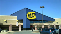 Stock Video Footage of Best Buy electronics storefront retailer