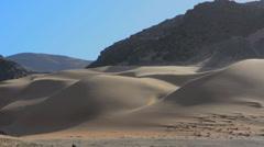 Namibia Northern Desert of Namib Desert tall wonderful sand dunes of Hartmann Stock Footage