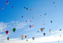 Colorful air balloons Stock Photos