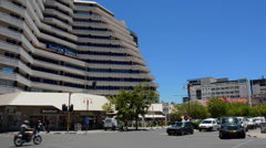 Namibia Namibia Windhoek busy traffic on Independence Avenue downtown in Capitol Stock Footage