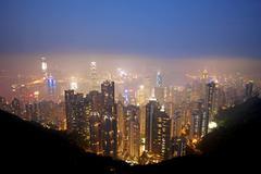 Honk Kong Skyline Stock Photos
