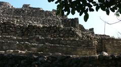 Chacchoben Mayan Ruins Templo 24 Pyramid 4 Stock Footage