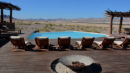 Stock Video Footage of Namibia Namibia desert remote Okahirongo Elephant Lodge exclusive expensive
