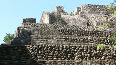 Chacchoben Mayan Ruins Templo 24 Pyramid 7 Stock Footage