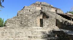 Chacchoben Mayan Ruins Templo 24 Pyramid 8 Stock Footage