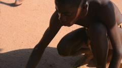 Namibia Namibia Damara tribe traditional life in Damaraland in Damara Living Stock Footage