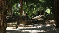 Chacchoben Mayan Ruins Jungle Plaza Stock Footage
