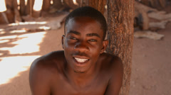 Namibia Namibia Damara-heimon perinteisiin elämää Damaraland in Damara Living Arkistovideo