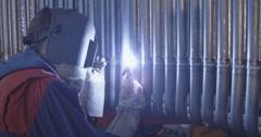 4K Gas tungsten arc welding Stock Footage