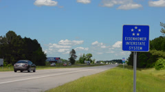 Eisenhower Interstate System of North Carolina of I-95 super highway with Stock Footage