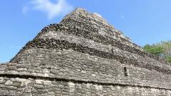 Chacchoben Mayan Ruins Templo 1 Pyramid 2 Stock Footage