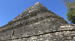 Chacchoben Mayan Ruins Templo 1 Pyramid 4 Stock Footage
