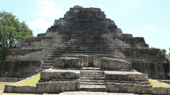 Chacchoben Mayan Ruins Templo 1 Pyramid 5 Stock Footage