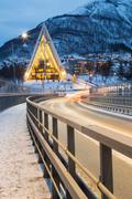 Tromso Arctic Cathedral Norway Stock Photos