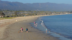 Santa Barbara California CA waterfront and beaches for tourists Stock Footage