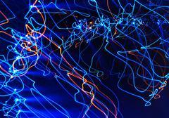 abstract light trails - stock illustration