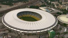 Close Aeriel View of Maracana Stadium - Rio de Janeiro, Brazil. Stock Footage