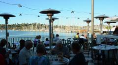 Sausalito California CA above San Francisco famous restaurant Salito's Crab Stock Footage