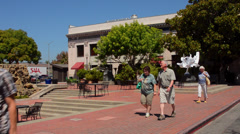 California Napa Valley Sonoma Valley beautiful Town Center in town of Napa in Stock Footage