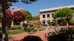 California Napa Valley Sonoma Valley beautiful Town Center in town of Napa in - stock footage