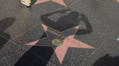 Los Angeles California CA Walk of Fame stars at the famous TCL Chinese Theater Stock Footage