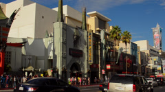 Los Angeles California CA the famous TCL Chinese Theater with the Hollywood Walk Stock Footage