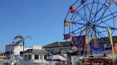 Balboa Beach at Newport Bech California CA marina at harbor and boats Stock Footage