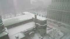 Montreal Snow Storm Stock Footage